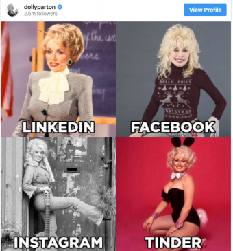 Dolly Parton sparks 'LinkedIn, Facebook, Instagram, Tinder' photo trend | GMA